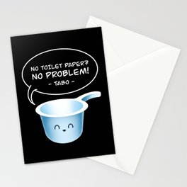 No Toilet Paper No Problem Tabo Funny Filipino Pinoy Hygiene Tool Stationery Cards