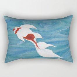 Peaceful Koi Rectangular Pillow