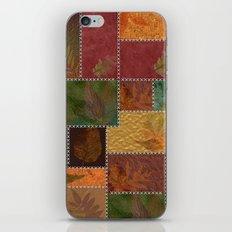 Stitches Of Autumn iPhone Skin