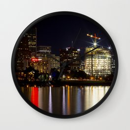 Portland Skyline 85 Wall Clock