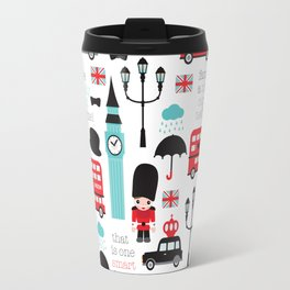 London icons illustration pattern print Travel Mug