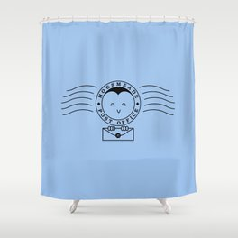 Cute Hogsmeade Post Office Stamp Shower Curtain