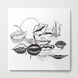 Lipscene Metal Print