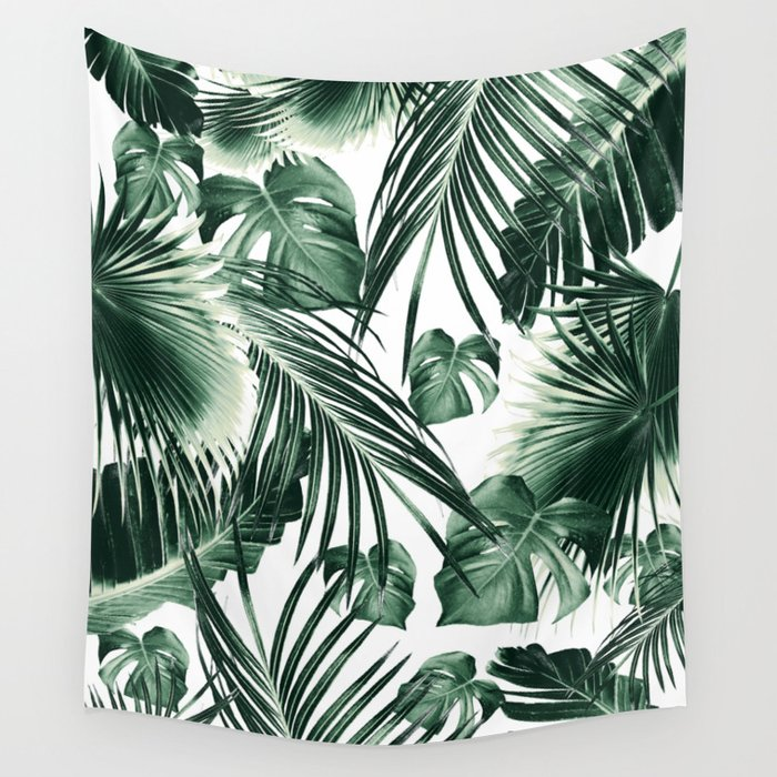 Tropical Jungle Leaves Dream #7 #tropical #decor #art #society6 Wall Tapestry