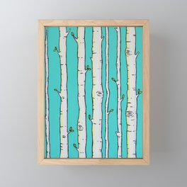 Birches Framed Mini Art Print