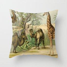 Giraffe and Friends Throw Pillow