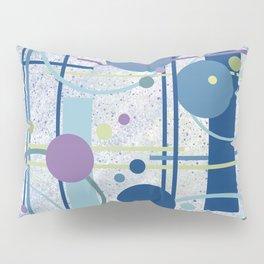 Mid Century Modern Abstract, Blue, Teal Pillow Sham