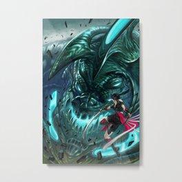 Monster Hunter Files Metal Print
