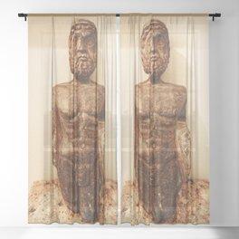 Busto dell'Imperatore (Emperor's Torso) Sheer Curtain