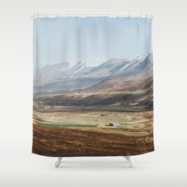 icelandic farm country shower curtain