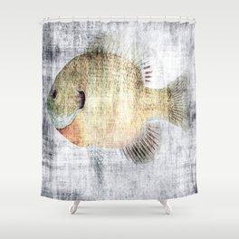 Grunge Fish Shower Curtain