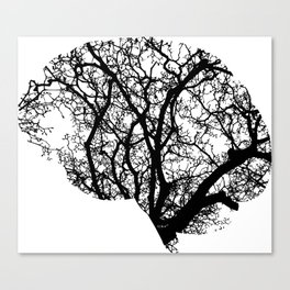 Brain Tree Canvas Print