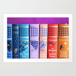 Classic Spines Art Print