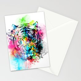 colorful tiger Stationery Cards