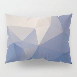 Blueberg – modern polygram illustration Pillow Sham