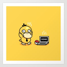 Psyduck in real life Art Print