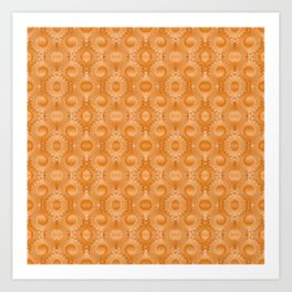Rounded orange 3 Art Print
