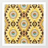 southwest Art Prints featuring Southwest  by Mia Valdez
