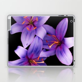 Beautiful Blue Ant Lilies, Flowers Scanography Laptop & iPad Skin