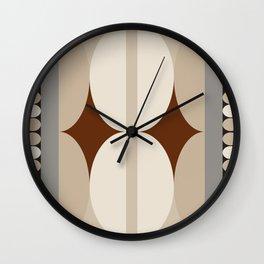 Taupe Linen Grey Neutrals Wall Clock