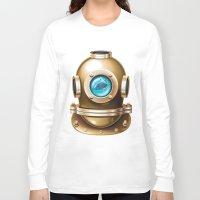 underwater Long Sleeve T-shirts featuring Underwater by Texnotropio