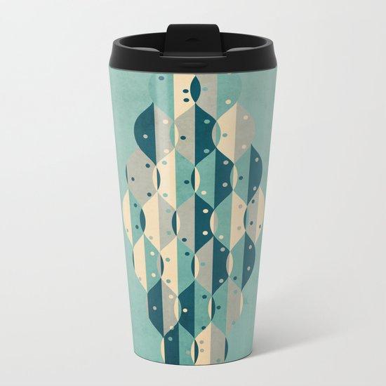50's floral pattern IV Metal Travel Mug