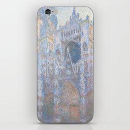 Monet, Rouen Cathedral Series, west facede (La Cathédrale de Rouen) iPhone Skin