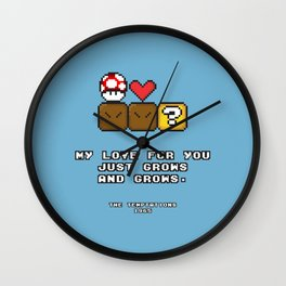 Love Grows Wall Clock