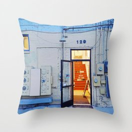 Artist Building Throw Pillow