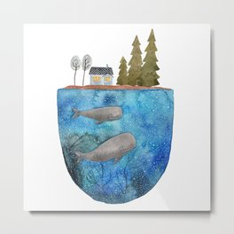 Whales are watching you Metal Print