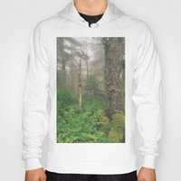 forrest Hoodies featuring Foggy Forrest by Donovan Bennett Designs