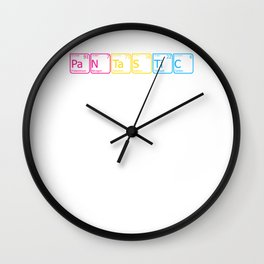 Pantastic design LGBTQ Pansexual Pride Gift Idea Wall Clock