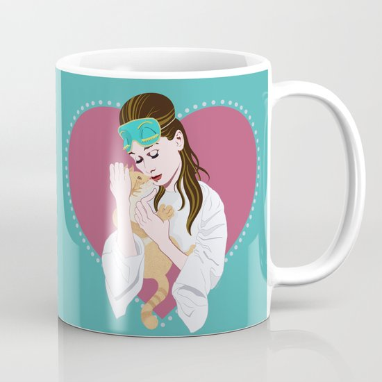 Holly Golightly's cat / Audrey Hepburn Mug