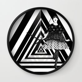 The Many Faces of Peggy Moffitt Wall Clock