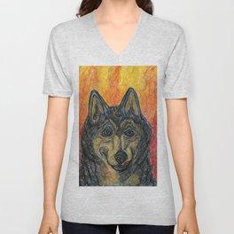 The Wolf's Dilemma Unisex V-Neck