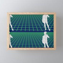 80's Postmodern Mystery Grid Framed Mini Art Print