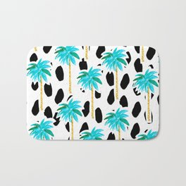 Palm Trees and Dots Bath Mat
