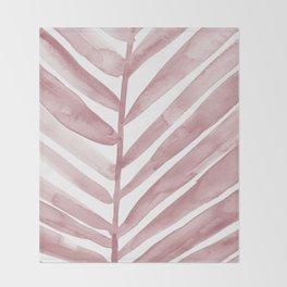 Pink Palm Leaf Crop Throw Blanket