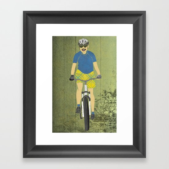 Bicycle Girl 2 Framed Art Print