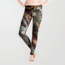 Driftwood branches and dried grasses Leggings