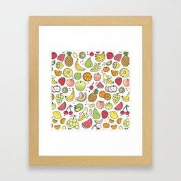 Juicy Fruits Doodle Framed Art Print