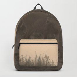 DEER AT SUNSET AT THE BEACH Backpack