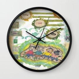 live love laugh cats Wall Clock