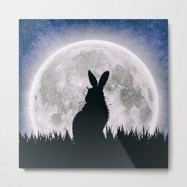 The Hare's Moon Metal Print