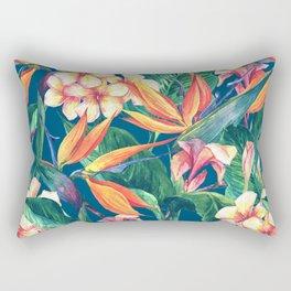 Tropical Bird Of Paradise Flowers Rectangular Pillow