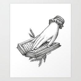 Reading Outside Art Print