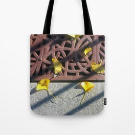 Grate and Ginko Leaves Tote Bag
