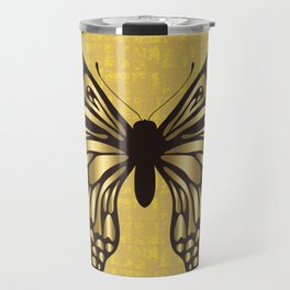Gold Butterfly on the Gold-leaf Screen Travel Mug