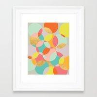 fancy Framed Art Prints featuring Fancy by K&C Design