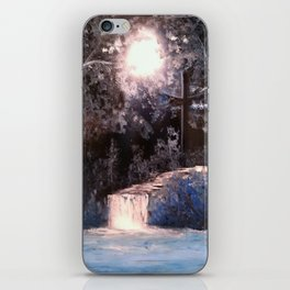 Blues In Nature Waterfall Spray Painting iPhone Skin